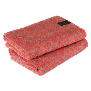 C-Allover (605-27) - махровое полотенце красного цвета Cawo, Германия