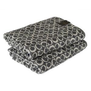 C-Allover (605-77) - махровое полотенце темно-серого цвета Cawo, Германия