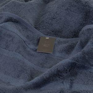 Махровое полотенце темно-синего цвета Cawo Noblesse 2 (1002-111), однотонное 100% хлопок