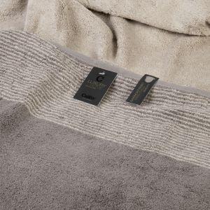 Махровое полотенце коричневого цвета Two-Tone (590-70) Cawo, Германия