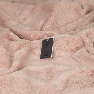 Махровое полотенце бледно-розового цвета Cawo Noblesse 2 (1002-383), однотонное 100% хлопок