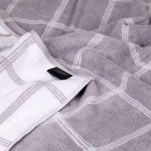 Махровое полотенце серого цвета Two-Tone Graphic (604-79) Cawo, Германия