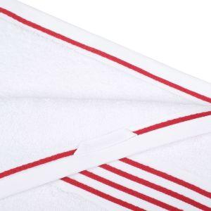 Gözze RIO (141-33) - махровое полотенце белого цвета с красным кантом Gözze, Германия