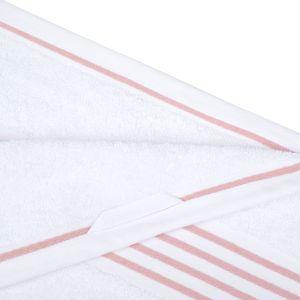 Gözze RIO (141-39) - махровое полотенце белого цвета с розовым кантом Gözze, Германия