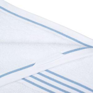 Gözze RIO (141-50) - махровое полотенце белого цвета с голубым кантом Gözze, Германия