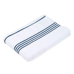 Gözze RIO (141-51) - махровое полотенце белого цвета с синим кантом Gözze, Германия