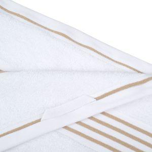 Gözze RIO (141-73) - махровое полотенце белого цвета с песочного кантом Gözze, Германия