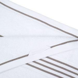 Gözze RIO (141-92) - махровое полотенце белого цвета с коричневыс кантом Gözze, Германия