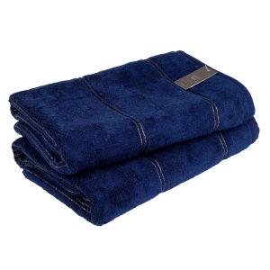 Carat (581-133) - махровое полотенце темно-синего цвета Cawo, Германия