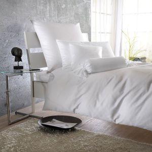 Белое постельное белье Curt Bauer Uni-Mako-Satin (0000), Германия. Полуторное, однотонное