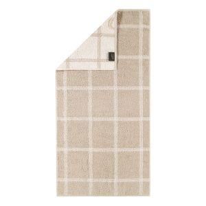 Махровое полотенце бежевого цвета Two-Tone Graphic (604-33) Cawo, Германия