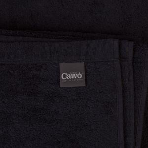 Однотонное махровое полотенце черного цвета Cawo LIFESTYLE (7007-906)
