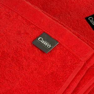 Однотонное махровое полотенце красного цвета Cawo LIFESTYLE (7007-263)