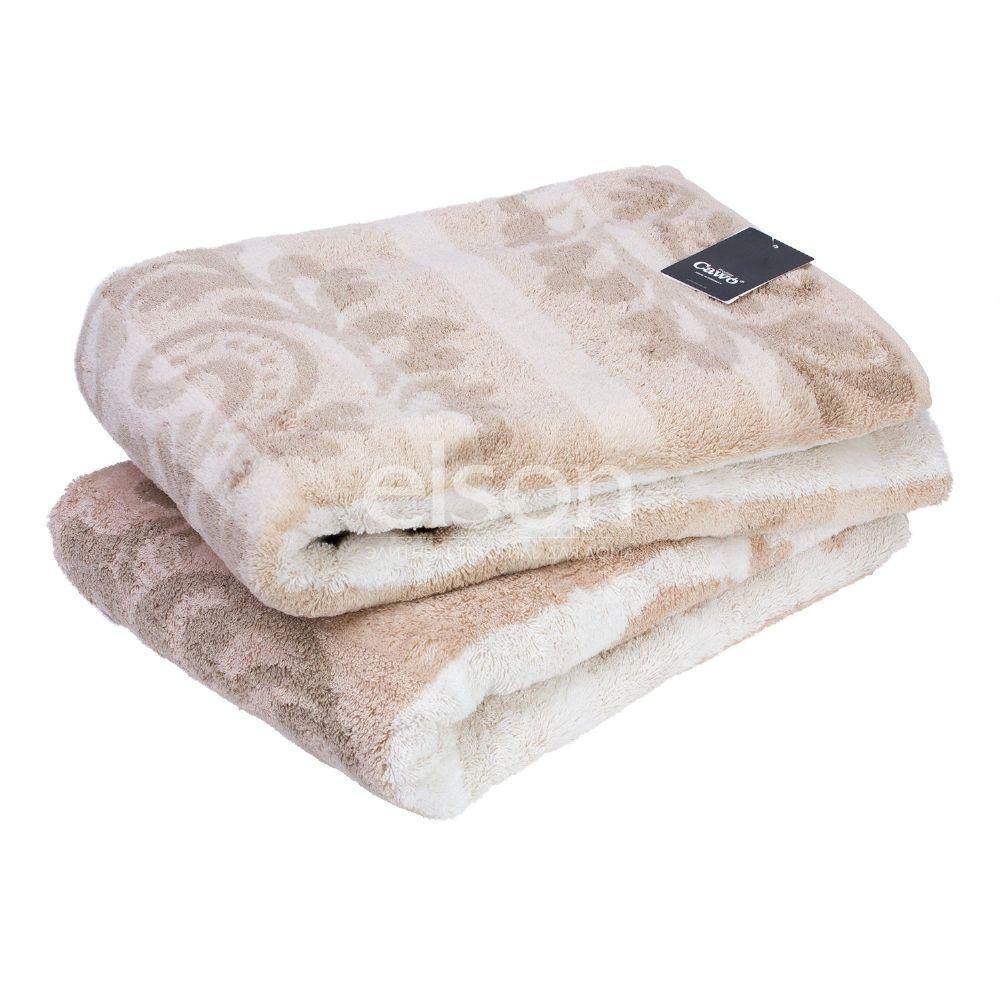 Полотенце махровое коричневого цвета Cawo Noblesse Cashmere (1057-033), 100% египетский хлопок