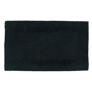 Двухсторонний коврик для ванной черного цвета Uni (1000-901) CAWO (Германия)