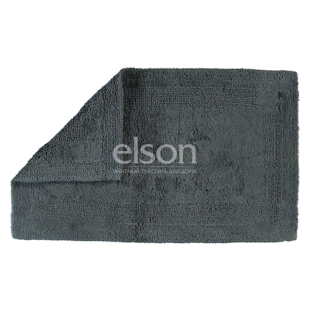 Двухсторонний коврик для ванной темно-серого цвета Uni (1000-774) CAWO (Германия)