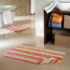 Коврик для ванной в полоску разноцветный Lifestyle (7048-84) CAWO, Германия