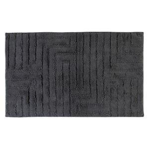 Коврик для ванной из хлопка темно-серого цвета Uni Strukrur (1004-774) CAWO, Германия