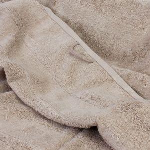 Махровое полотенце светло-коичневого цвета Cawo Noblesse 2 (1002-375), однотонное 100% хлопок