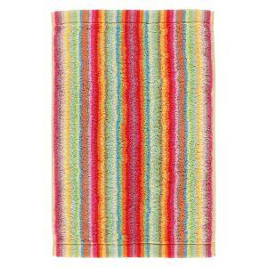 Махровое полотенце с разноцветными полосами Cawo Lifestyle (7008-25), 100% хлопок