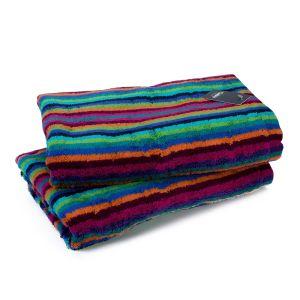 Полотенце махровое в разноцветною полоску Cawo Lifestyle (7048-84), 100% египетский хлопок