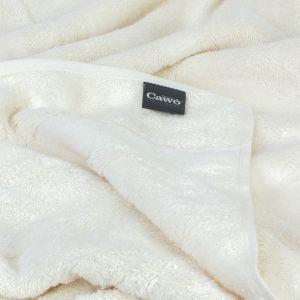 Однотонное махровое полотенце кремового цвета Cawo NOBLESSE 2 (1002-356)