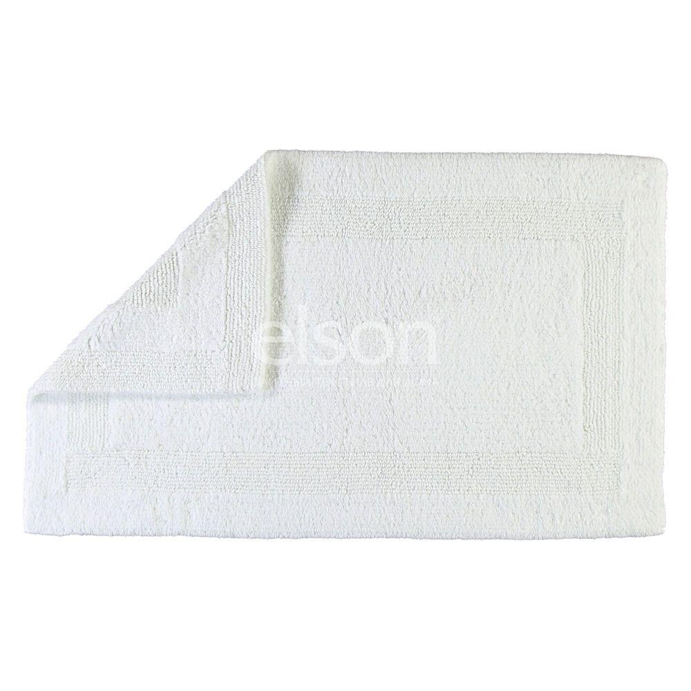 Двухсторонний коврик для ванной белого цвета Uni (1000-600) CAWO (Германия)