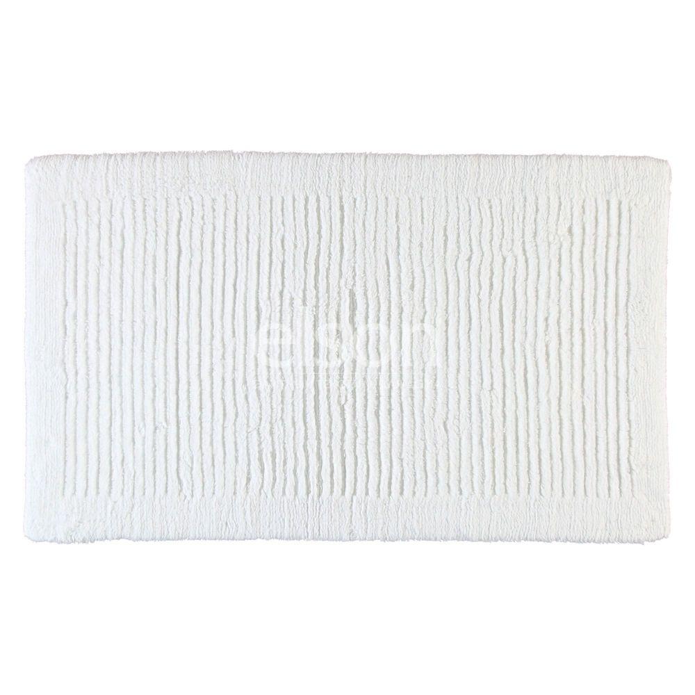 Коврик для ванной из хлопка белого цвета Uni (1002-600) CAWO (Германия)