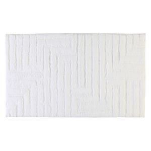 Коврик для ванной из хлопка белого цвета Uni Struktur (1004-600) CAWO, Германия