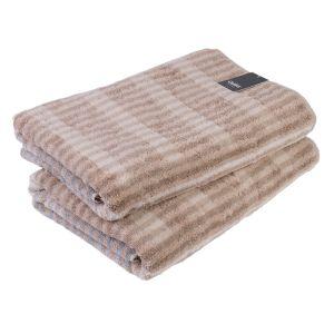 Полотенце махровое коричневого цвета Cawo Noblesse Cashmere (1056-033), 100% египетский хлопок