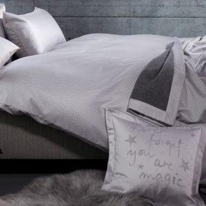 Maris (2540-1808) - серое полуторное с жаккардовым плетением постельное белье  Curt Bauer, Германия.